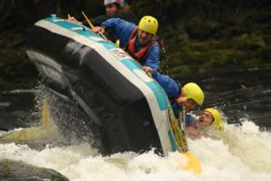 Splash Day of White Water Rafting on the River Tay and the River Tummel