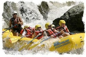 Rafting the American River, California