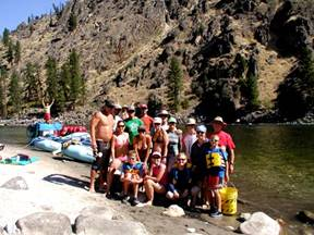 River Rafting the Salmon, Idaho