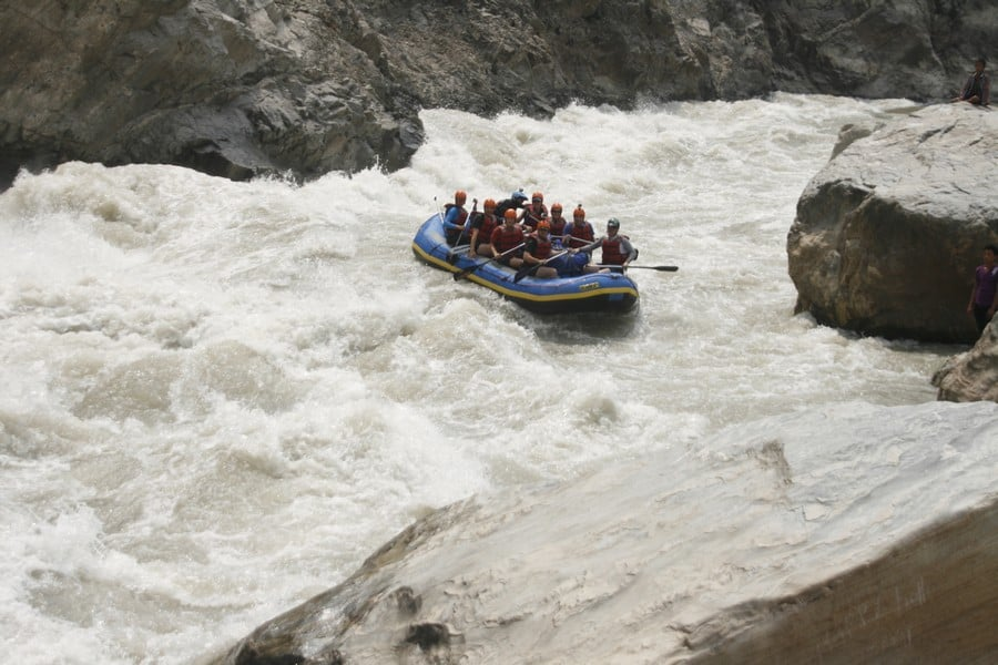 The Sun Kosi river rafting