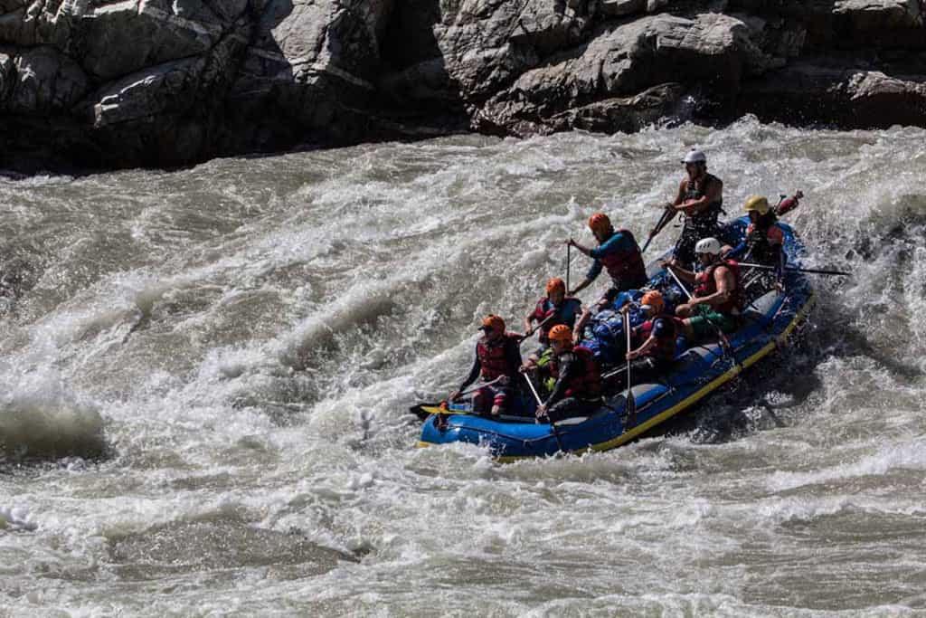 The Sun Kosi river rafting